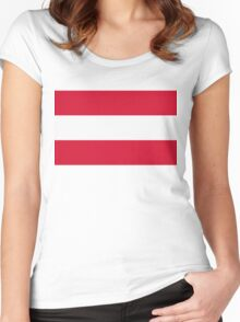 National Flag of Austria Women's Fitted Scoop T-Shirt