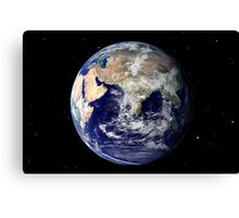 Full Earth showing Europe and Asia Canvas Print