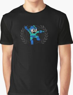 Mega Man - Sprite Badge Graphic T-Shirt