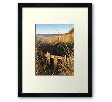 Autumn Dunes Framed Print