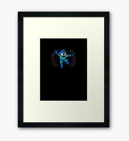 Mega Man - Sprite Badge Framed Print