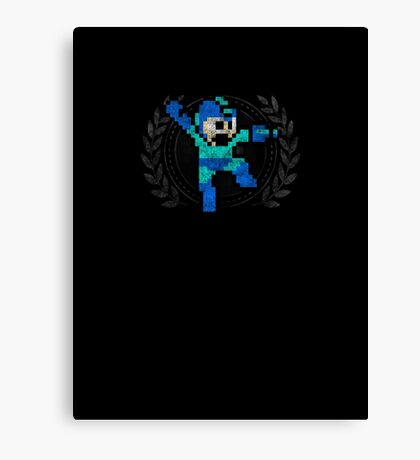 Mega Man - Sprite Badge Canvas Print