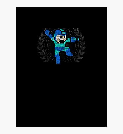 Mega Man - Sprite Badge Photographic Print