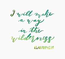 watercolor wilderness scripture verse Unisex T-Shirt