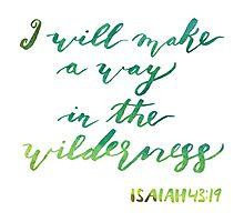 watercolor wilderness scripture verse Photographic Print