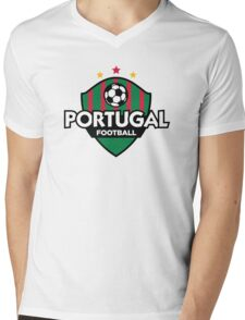 Football crest of Portugal Mens V-Neck T-Shirt