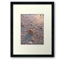 Macro Beach Reflections Framed Print