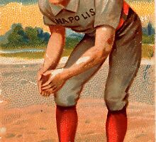 Jack Glasscock Vintage Indianapolis Hoosiers by pdgraphics