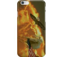 Morgan Horse with Flag iPhone Case/Skin