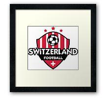 Football emblem of Switzerland Framed Print
