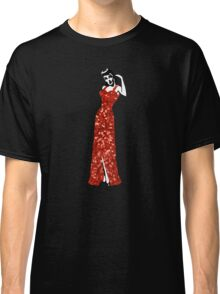 red vintage burlesque pin up Classic T-Shirt