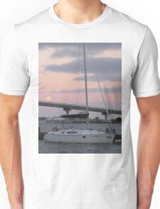 Moonlit Yacht Unisex T-Shirt