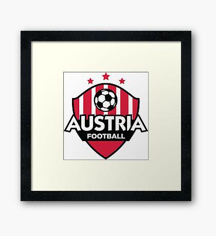Football emblem of Austria Framed Print