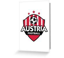 Football emblem of Austria Greeting Card