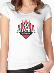 Football emblem of Austria Women's Fitted Scoop T-Shirt