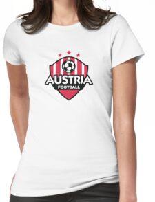 Football emblem of Austria Womens Fitted T-Shirt