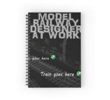 Model Railway Designer At Work Spiral Notebook