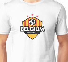 Football emblem of Belgium Unisex T-Shirt
