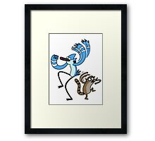 Mordekai and Rigby Regular Show Framed Print