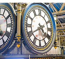 Clock London Waterloo Railway Station by Martin Berry Photography