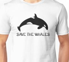 Save the Whales - Orca .  Unisex T-Shirt