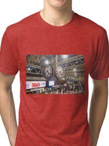 London Waterloo Station Clock Tri-blend T-Shirt