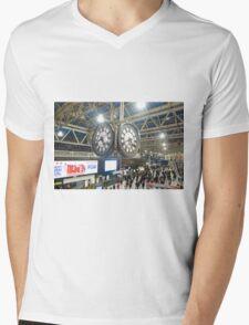 London Waterloo Station Clock Mens V-Neck T-Shirt
