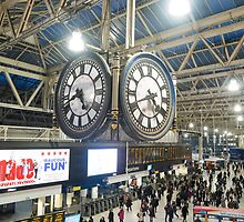 London Waterloo Station Clock by Martin Berry Photography