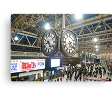 London Waterloo Station Clock Canvas Print