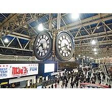 London Waterloo Station Clock Photographic Print