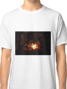 Fiery Sunset Through The Eucalypts Classic T-Shirt