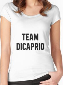 Team Dicaprio - Black Text Women's Fitted Scoop T-Shirt