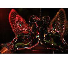 Kissing Doves Ornament Photographic Print