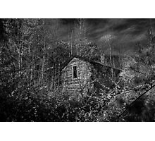 Spring Shed: B&W Photographic Print