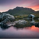 Boat Shed at Sundown by Paul Fleming