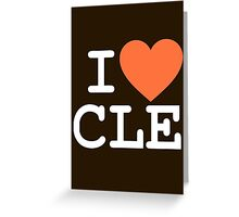 I HEART CLE - CLEVELAND - Alternate Greeting Card