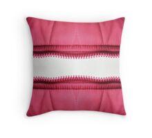 Pink zipper Throw Pillow