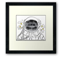Outer Space Is So In Right Now Framed Print