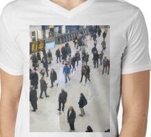 London Waterloo Station Mens V-Neck T-Shirt