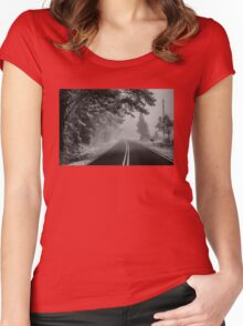 Disappearing Road Women's Fitted Scoop T-Shirt