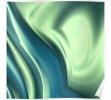 Basic Beliefs Abstract In Peppermint Green and Jade Poster