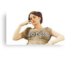 Lady Mary from Downton Abbey Metal Print