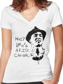 Paco Aguilar Women's Fitted V-Neck T-Shirt
