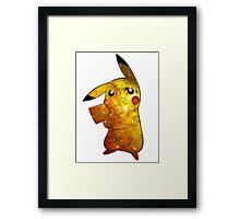 Pikachu Galaxy (Pokemon) Framed Print