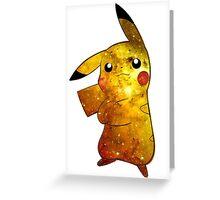 Pikachu Galaxy (Pokemon) Greeting Card