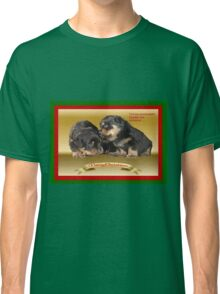 Vector Rottweiler Puppy Christmas Wishes  Classic T-Shirt