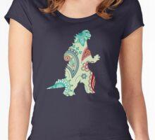 Paisley Godzilla Women's Fitted Scoop T-Shirt