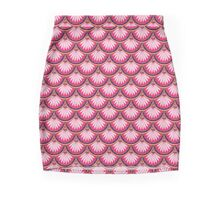 Royal Pink Scallops Mini Skirt