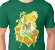 Katie's Flying Giraffe Unisex T-Shirt