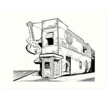 Musical Memphis Tennessee - Sun Studio Art Print